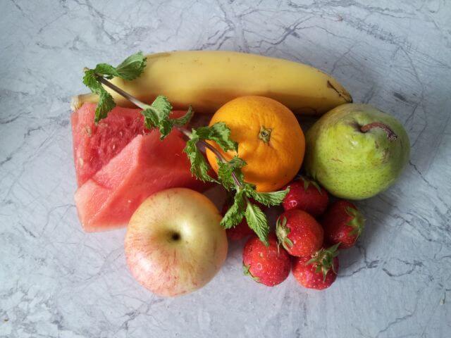 """Obst Smoothie-Rezept mit Pfefferminze: """"Gute Laune"""""""