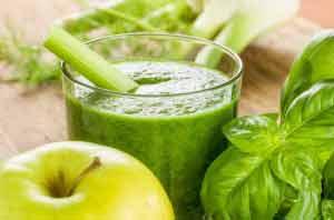 Fasten mit Grünen Smoothies