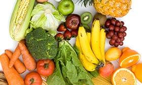 Ernaehrungspyramide Obst und Gemüse
