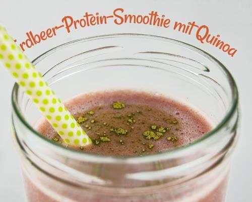 Erdbeer-Protein-Smoothie mit Quinoa