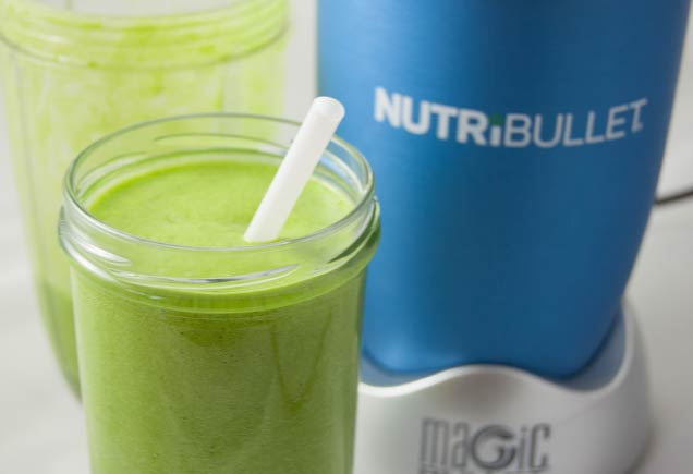 Grüner Smoothie aus dem Nutribullet