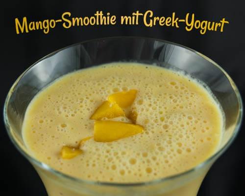 Protein-Mango-Smoothie mit  grichischem Yogurt