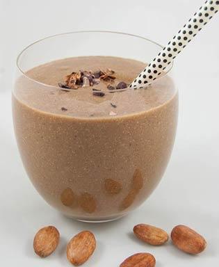 Protein-Smoothie mit Schokolade