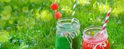 Smoothies in der Wiese