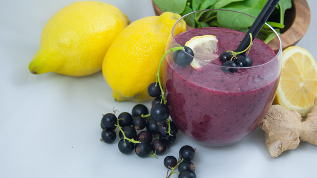 Photo vom Johannisbeer-Smoothie mit Zitrone