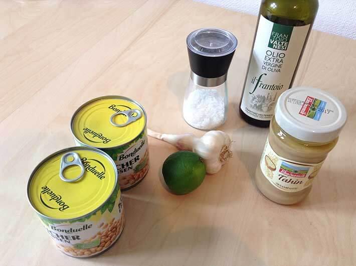 Hummus Grundzutaten