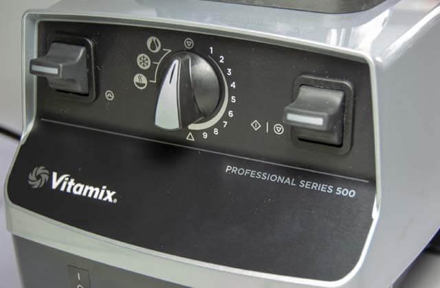 Bedienfeld des Vitamix Pro 500