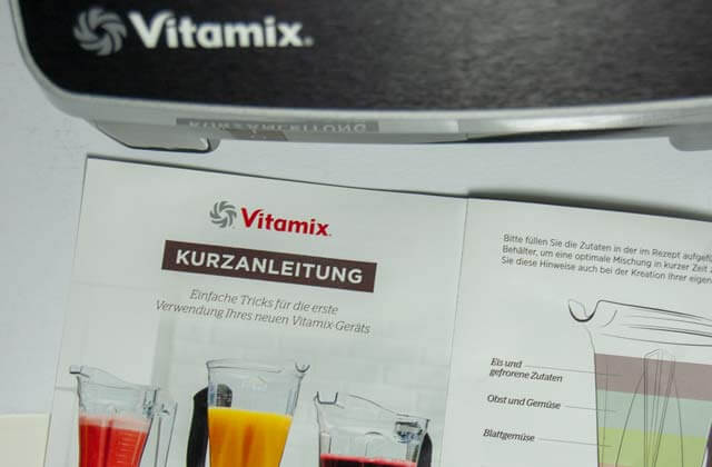 Pro 500 Kurzanleitung von VItamix
