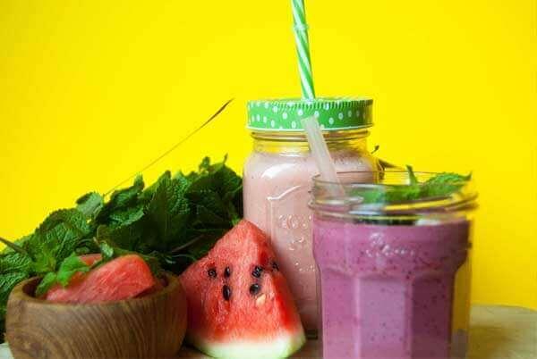Smoothies mit Wassermelone