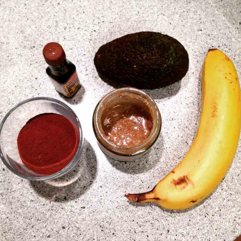Zutaten für veganes Schoko Mousse