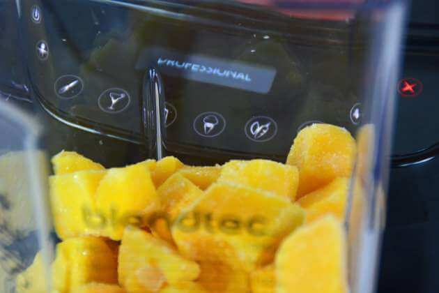 Gefrorene Mangos im Pro 800 von Blendtec