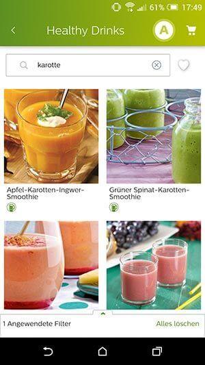 Healthy Drinks App von Philips