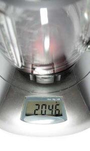Glasbehälter Gewicht über 2kg