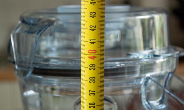 Vitamix A2300i Mixerhöhe